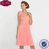 Goingwedding Latest Design Elegant Pleated Bodice Sweetheart One Shoulder Short Chiffon Bridesmaids Dresses BM028