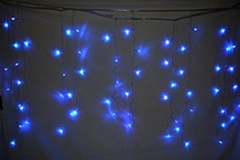 230V blue color led christmas icicle lights