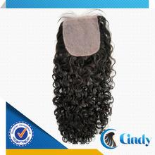 invisible part silk top lace kinky curly human virgin brazilian hair closure