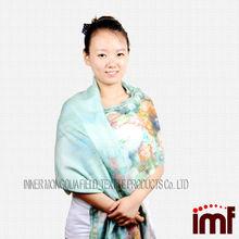 New Design Big Size Cashmere Silk Feel Twill Cotton Shawl Scarf