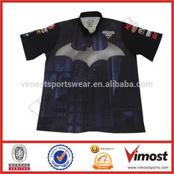 Wholesale iron bat motorcycle&car racing team shirt jersey/jacket design