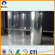 super thin clear semi-rigid plastic PVC film in roll
