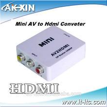 High-Definition Mini AV2HDMI converter for analog composite input to HDMI 1080p (60HZ) output