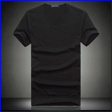 hot sale custom t shirt wholesale China hot sale deep v neck t shirt for men