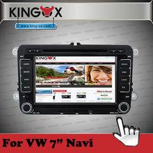 Kingox car dvd 7 inch HD TFT screen gps dvd for vw jetta car multimedia with 720P IPOD DVD DVB-T