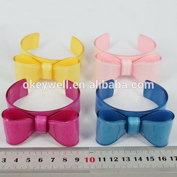 Bowknot Ring Plastic Resin Bowknot Ring