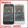 Wholesale Original Lenovo A678T Quad Core MTK6582 Android 4.2 Smart Phone 5.0 inch 512MB RAM 4GB ROM 5MP Dual Sim Card GSM Phone