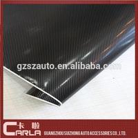 Black color 4D Textured auto body sticker carbon fiber 4d