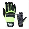 Oilfield Hi-Viz Industry Mechanic Gloves, Impact Gloves for oil and gas industrial