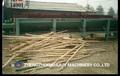 Doble ejes de registro de madera Debarker // madera árbol tronco descortezado máquina