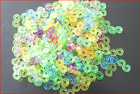 HOT Colourful Glow Rubber Bands S-Clips For DIY Loom Bracelets Making