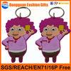 custom funny girls shaped soft pvc cute cartoon character keychain for sales