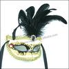 Wholesale party costume mask peacock feather Rhinestone crossdressers mask