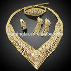 Shining exquisite garnet rhinestone fashion jewelry set