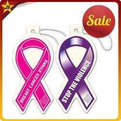 Breast Cancer Awareness Ribbon Paper Air Freshener