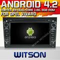 Witson android 4.2 navigator opel zafira 2004-2009 ile a9 yonga 1080p 8g rom