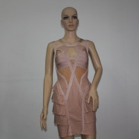 newest women sexy pink slim celebrity inspired dresses