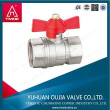 internal screw thread Aluminum handle brass ball valve water gas oil brass ball valve