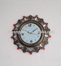 Vintage metal wall digital clock