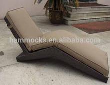 Aluminium Sling Chair, Rattan Lounge with Wheels