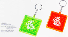 promotional mini magical intellect keychain labyrinth iq puzzle toy maze toy