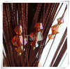 Crystal beads curtains for door screens
