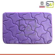 Soft body relax foot massage water absorbing purple foam floor mats