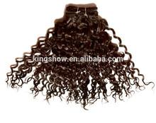 kinky curly malaysian no-remy machine hair weft