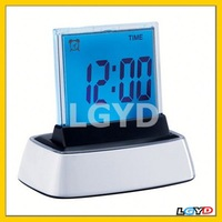 Promotional 7 Color Change LED Digital LCD Alarm Clock, HSD110B