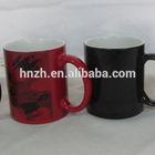 11oz ceramic magic heat sensitive color changing mugs