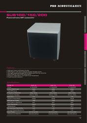 mini subwoofer speaker SUB100 HI-FI active subwoofer