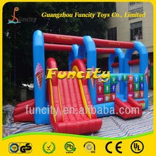 Fashion Lovely Cute Useful High Quality Best Price Slide Foldable inflatable bouncer castle