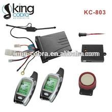 Good quality two way alarm system motorcycle with LCD remote control, alarmas para motos