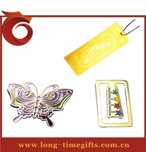 Carved Technique and Metal,bronze or zinc alloy Material customized logo bookmark