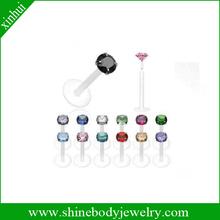 bioflex body piercing jewelry clear lip piercings