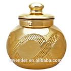 gold tall glass jar with lid glass jar wooden lid 10l glass jar