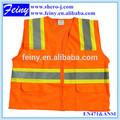 100% de poliéster/de algodón de alta visibilidad chaleco reflectante de seguridad 471 la norma en
