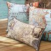 2014 hottest latest design map photo print parlour sofa decoration cushion