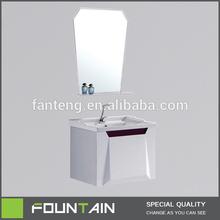 PVC Bathroom Cabinet Manufacturer Simple Design Cabinet Sanitary Ware Banyo Dekorasyon