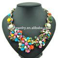 Mode chunky perlen blumenkette, Aussage bib halskette, yiwu Schmuck( jnk0370)
