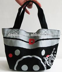canvas black innovative design lunch bag