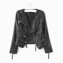 HFRFN59 hot sale Europe style woman PU leather jacket