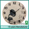 13inch mdf wall clock music home decoration/vintage decor