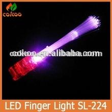 Flashing Led finger light custom led glowing finger torch,led flash light finger for party and pub,promotional items with LOGO