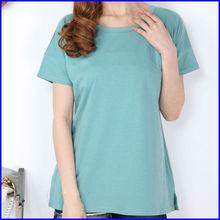 2014 fashion popular style plain tshirt blank tshirt no label t shirt with pocket