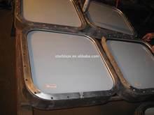 Marine double hinged windows