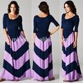 Viscose maxi vestido de verão mulheres longos senhora moda casual de algodão viscose vestido maxi