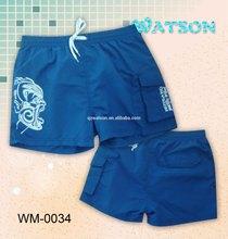 men's rubber print board shorts beach shorts