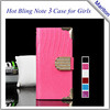 High quality accept paypal Luxury leather case 2014 new products flip cover case for samsung galaxy note 3 cases