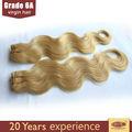 dorado oscuro color de pelo rubio rizado brasileño remi pelo hecho en china